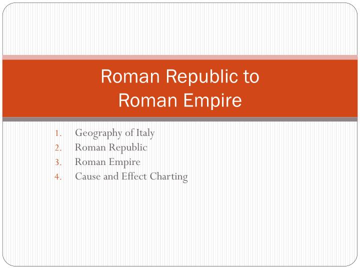 roman republic to roman empire n.