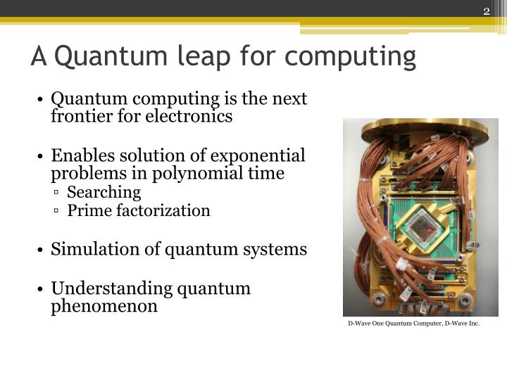 understanding quantam computing essay Quantum computers exploit superposition, an effect which essentially means that the same particle can be located in different places at the same time in order to understand this concept is useful to think how binary computers work.