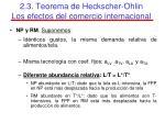 2 3 teorema de heckscher ohlin los efectos del comercio internacional