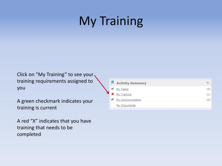 My Training