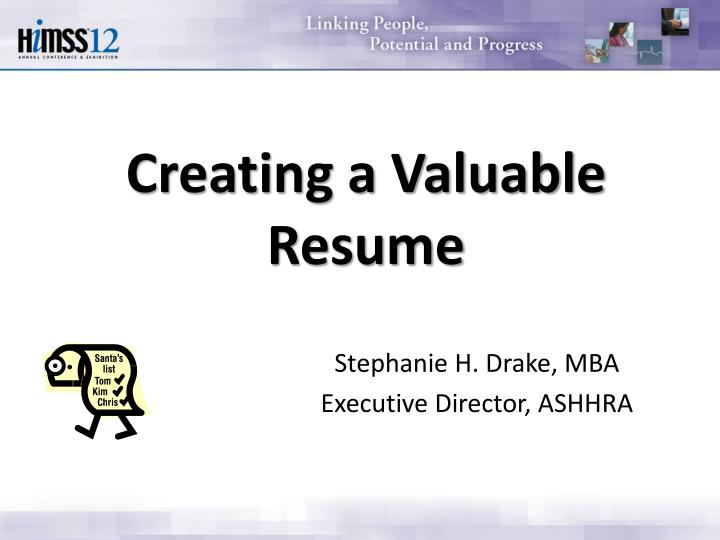 Creating a valuable resume
