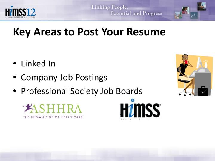 Key Areas to Post Your Resume