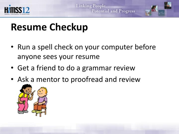 Resume Checkup