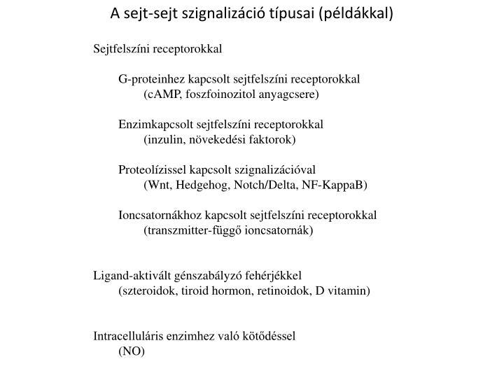A sejt-sejt szignalizáció típusai (példákkal)