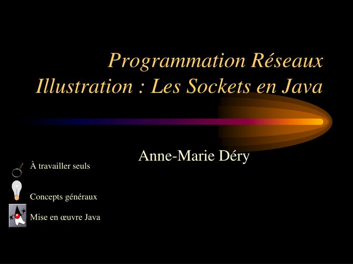 programmation r seaux illustration les sockets en java