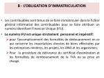 b l obligation d immatriculation