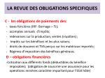 la revue des obligations specifiques3