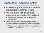 application access control