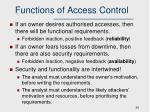 functions of access control