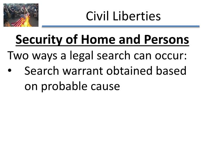 Security of Home and Persons