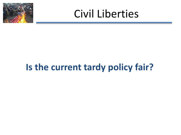 Is the current tardy policy fair?