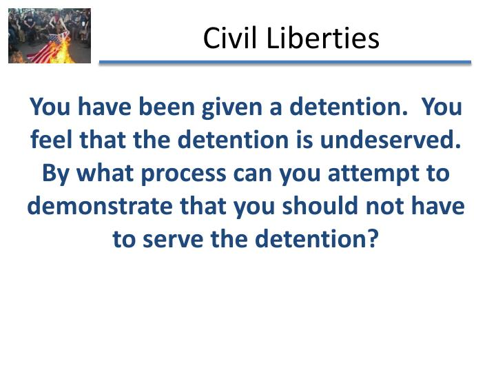 You have been given a detention.  You feel that the detention is undeserved.  By what process can yo...