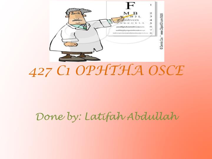 PPT - 427 C1 OPHTHA OSCE PowerPoint Presentation - ID:1936486