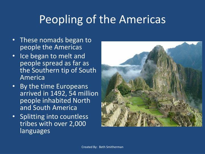 Peopling of the Americas