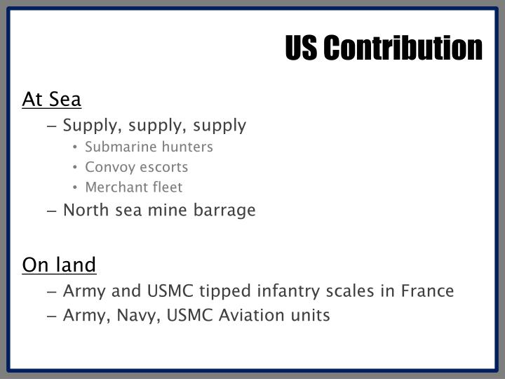 US Contribution