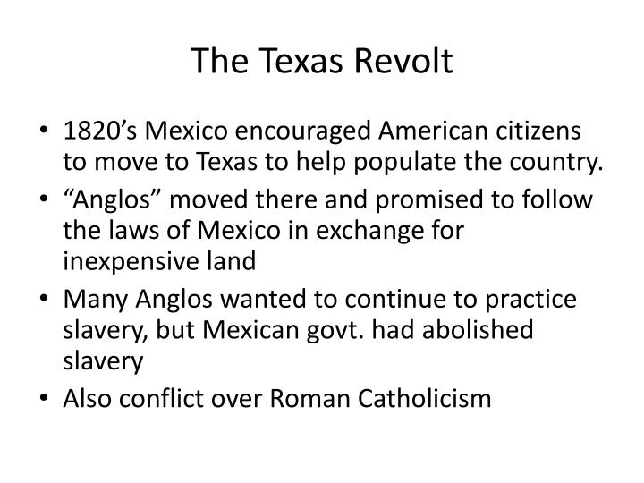 The Texas Revolt