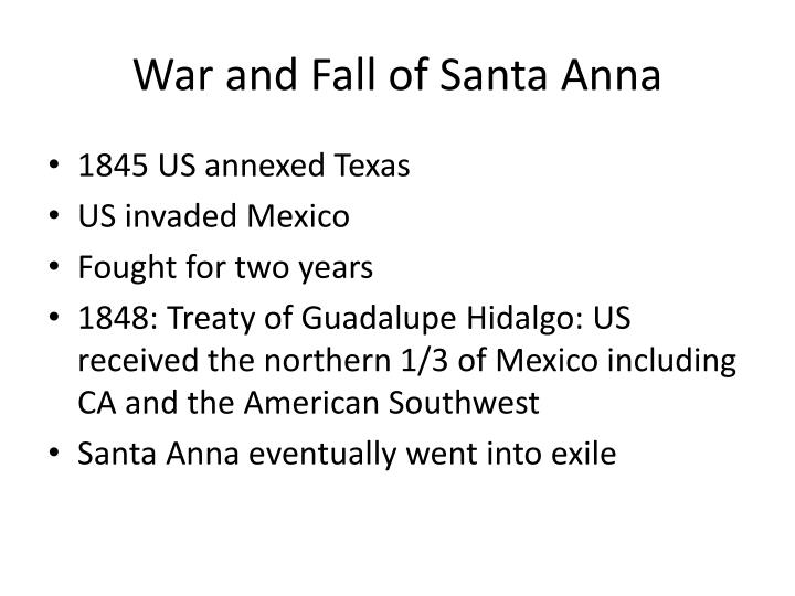 War and Fall of Santa Anna