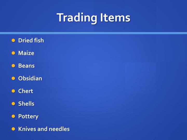 Trading Items