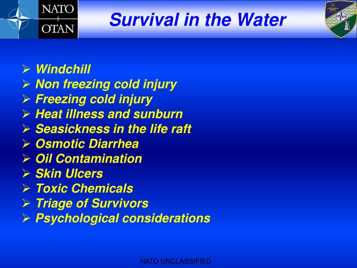 Survival in the Water