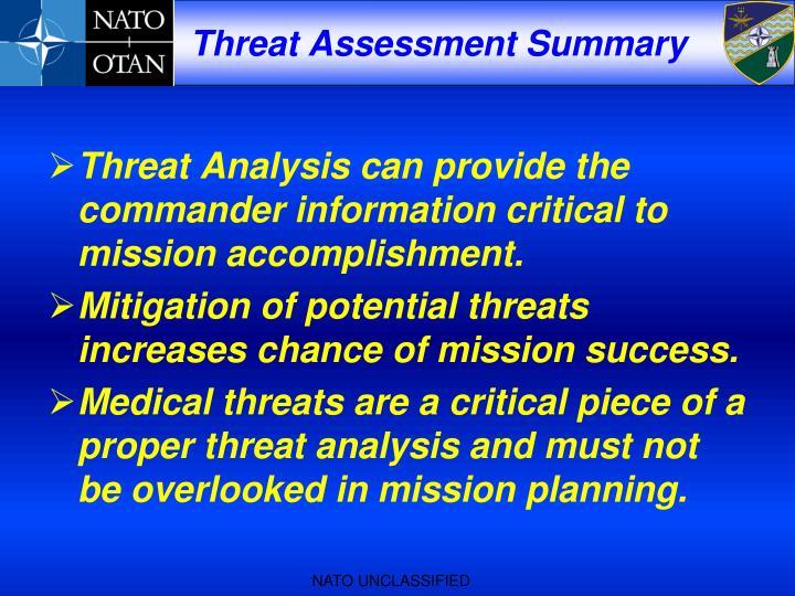 Threat Assessment Summary