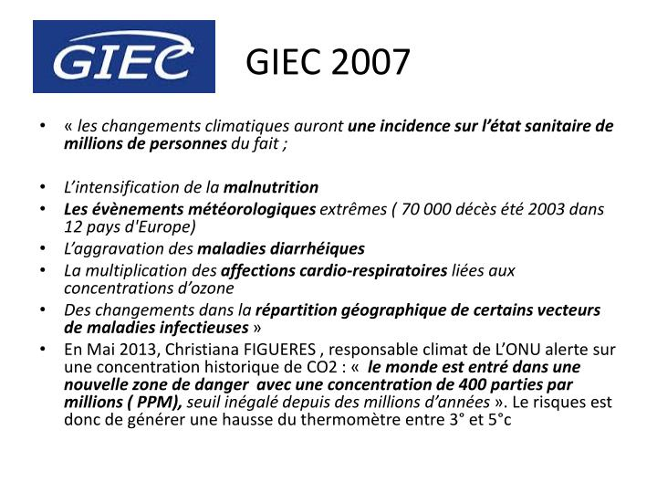 GIEC 2007