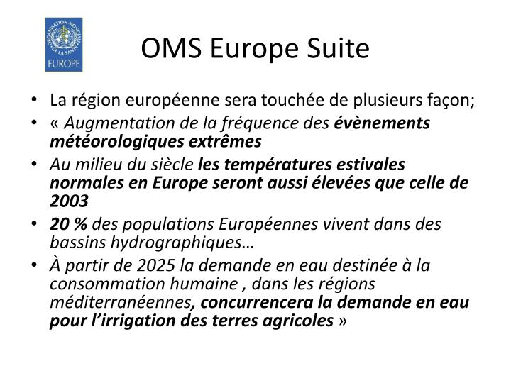 OMS Europe Suite
