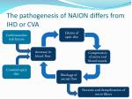 the pathogenesis of naion differs from ihd or cva