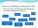 there is no effective treatment for ion