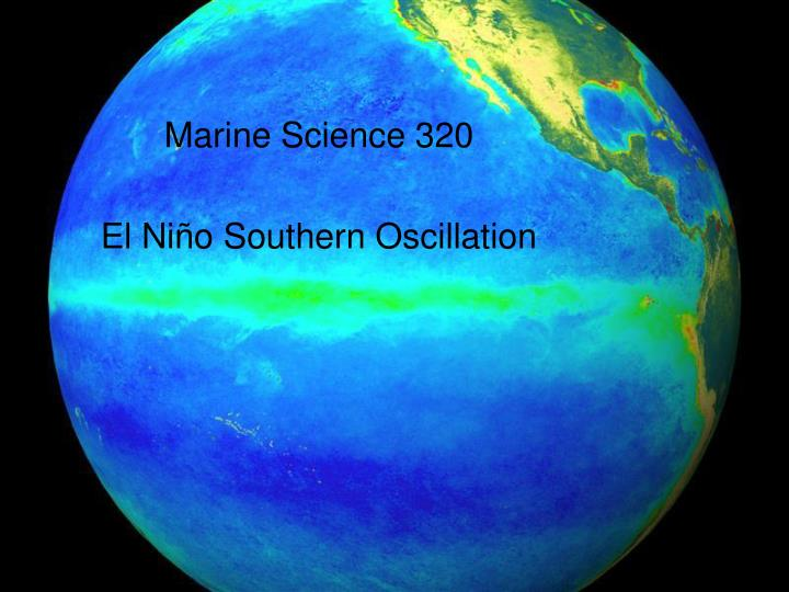 Marine Science 320