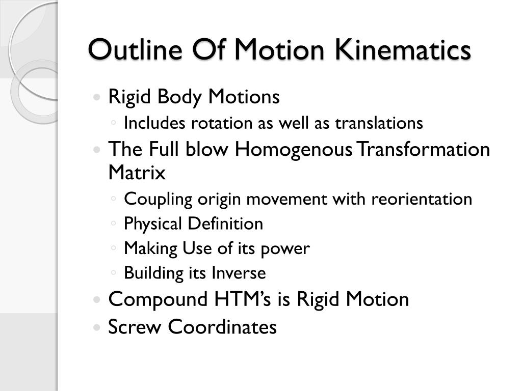 PPT - Motion Kinematics – Lecture Series 3 PowerPoint Presentation