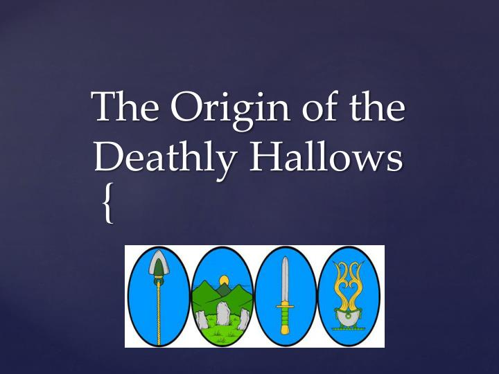 the origin of the deathly hallows n.