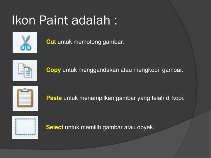 Ikon paint adalah