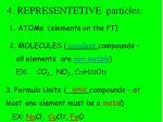 4 representetive particles
