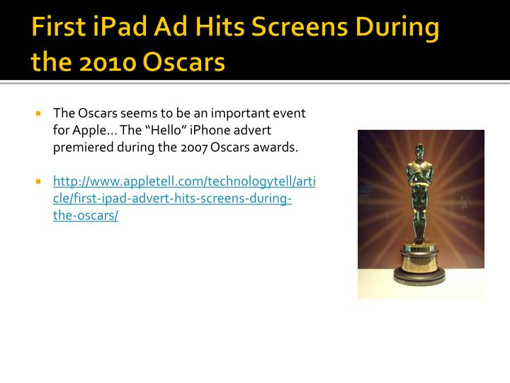 First iPad Ad Hits Screens During