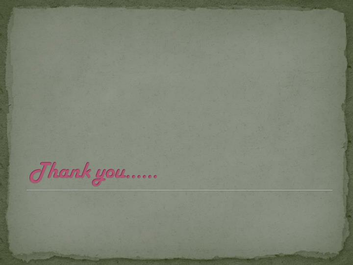 Thank you......