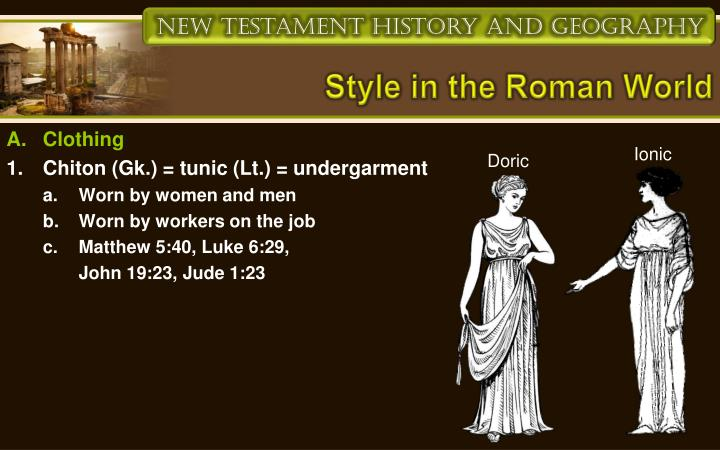 Style in the Roman World