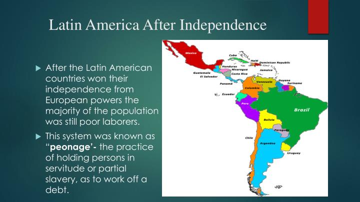 a history of independence in latin american countries Hispanic heritage month begins on september 15th and continues through october 15th during this time five latin american countries celebrate the anniversary of independence in 1821 - costa rica, el salvador, guatemala, honduras, and nicaragua.