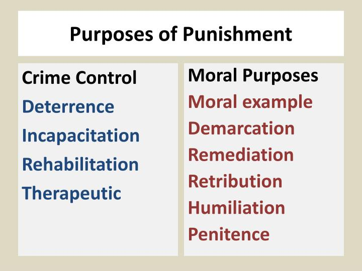PPT - Purposes of Punishment PowerPoint Presentation - ID:1937177