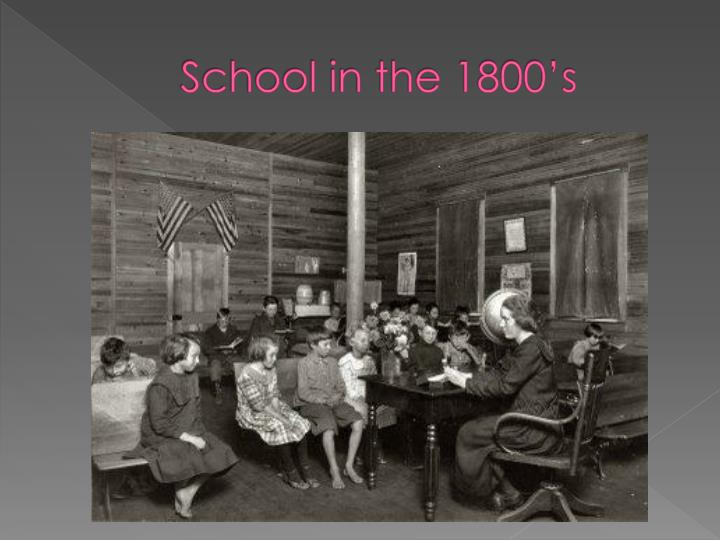 School in the 1800's