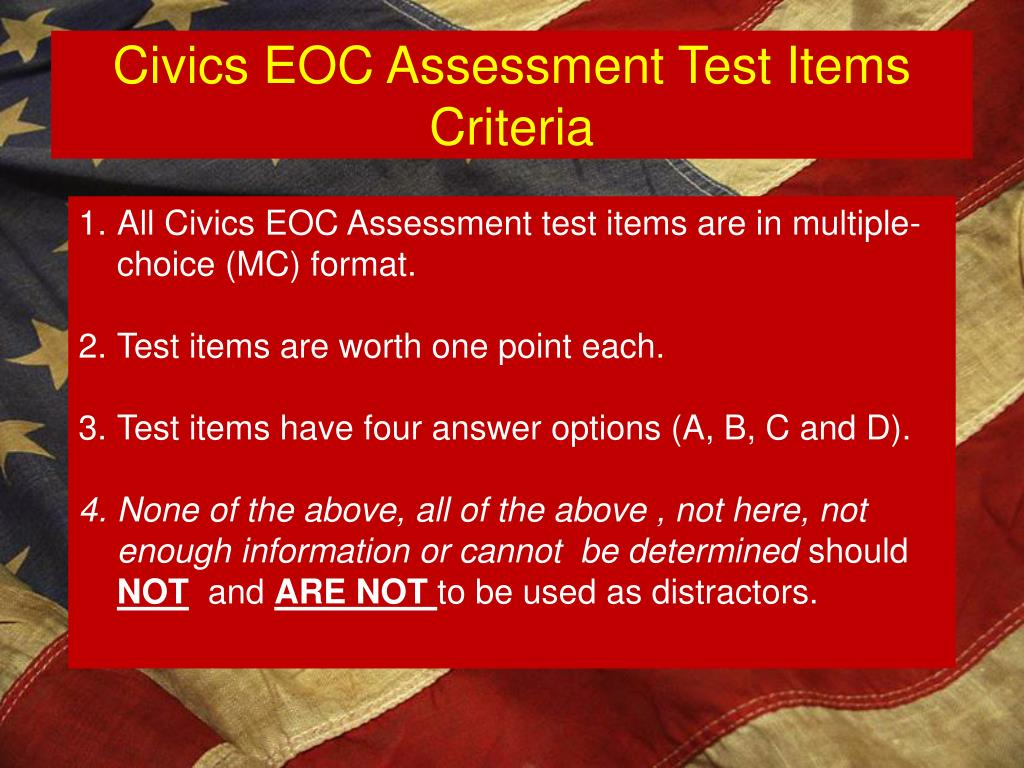 PPT - Civics End-of-Course (EOC) Assessment Most Current ...