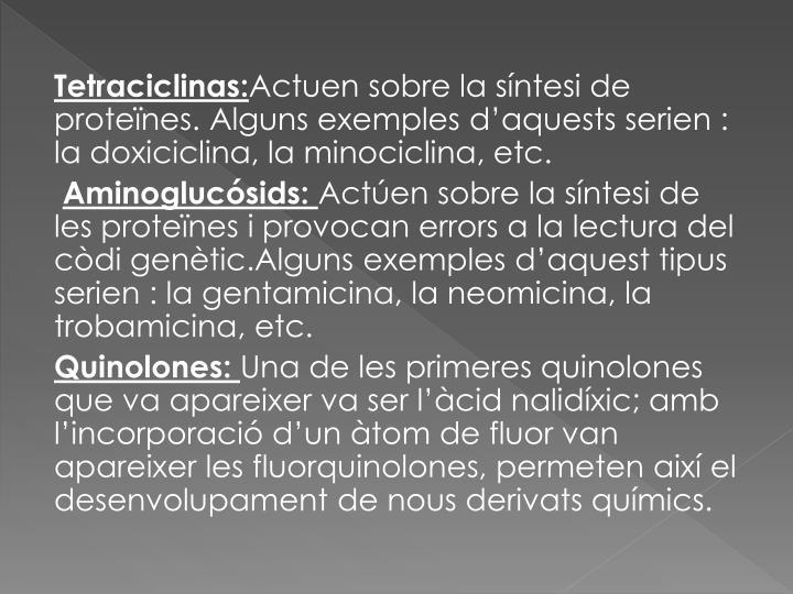 Tetraciclinas: