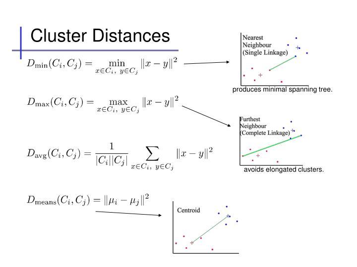 Cluster Distances