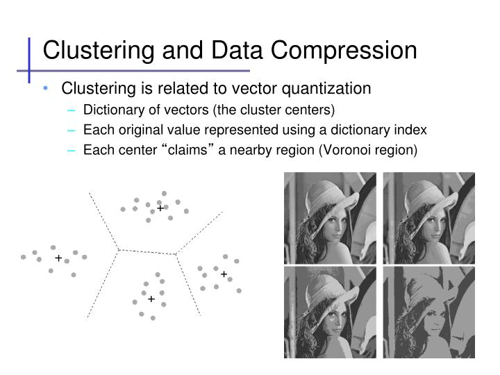 Clustering and data compression