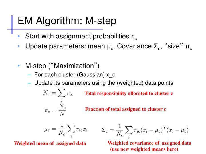 EM Algorithm: M-step