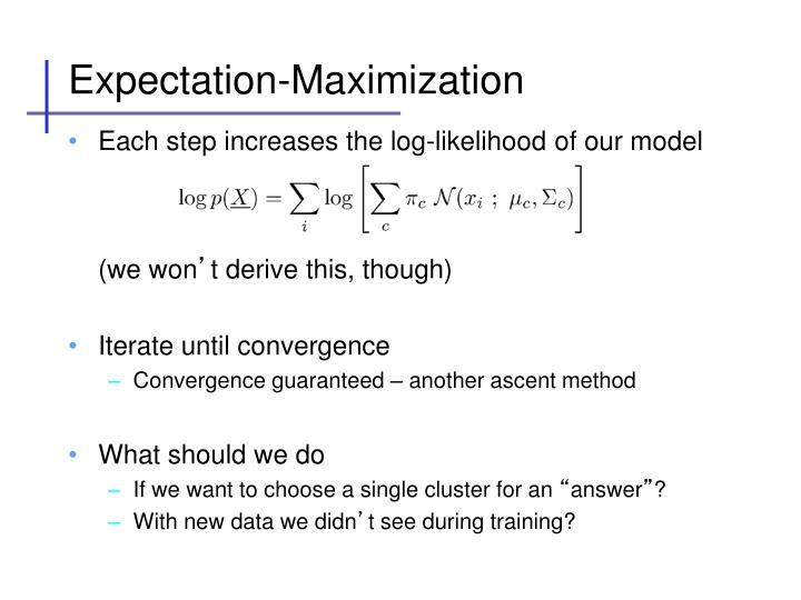 Expectation-Maximization