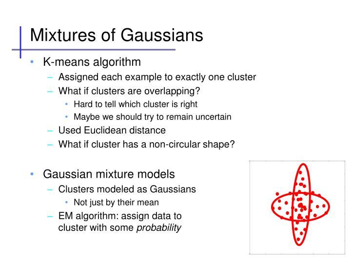 Mixtures of Gaussians