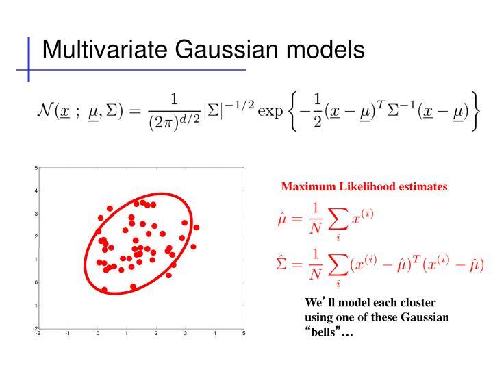 Multivariate Gaussian models