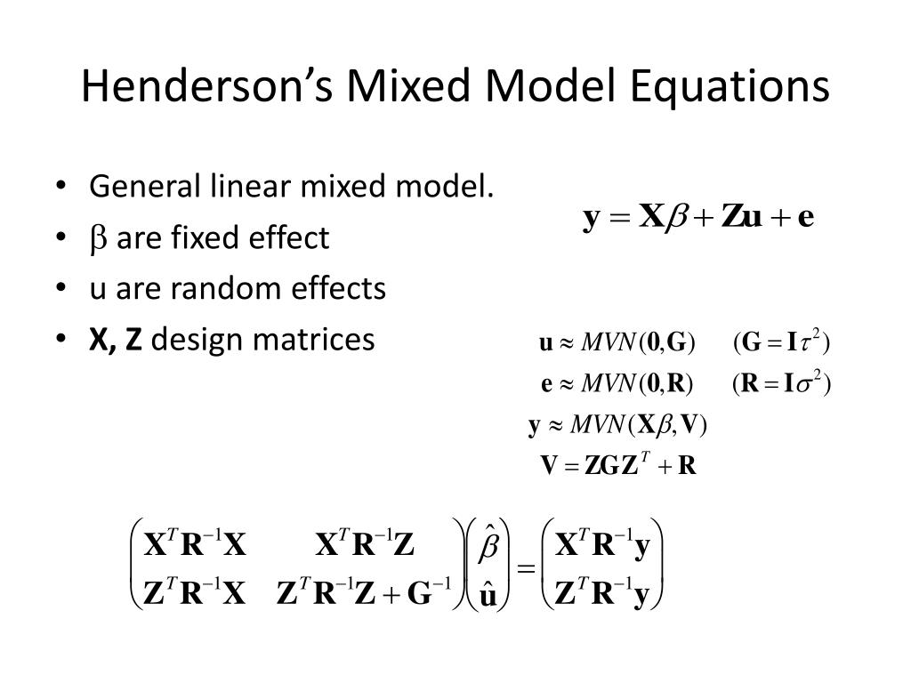 PPT - Linear Modelling III PowerPoint Presentation - ID:1937426