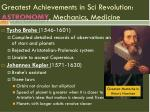 greatest achievements in sci revolution astronomy mechanics medicine2