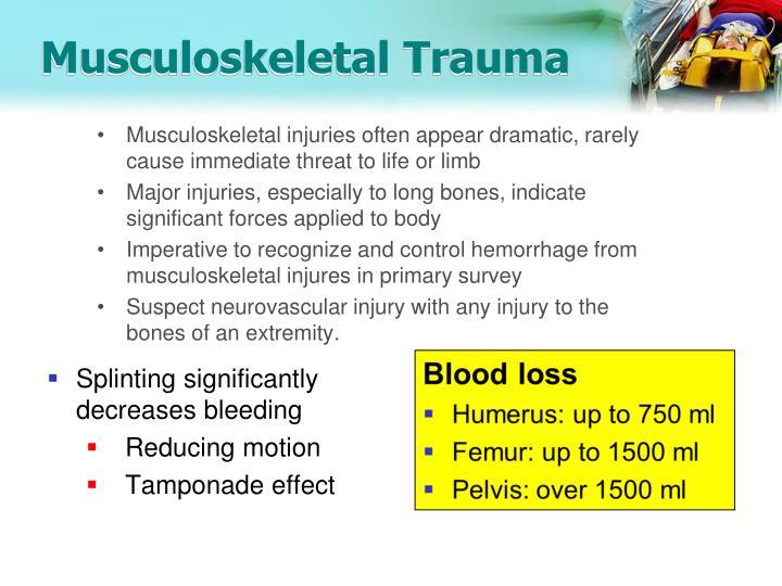 Musculoskeletal trauma1